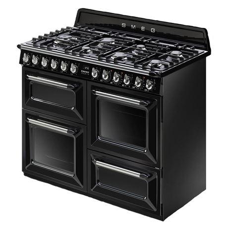 Cocina a gas natural smeg tr4110bl1 110x60cm negra - Cocinas a gas natural ...